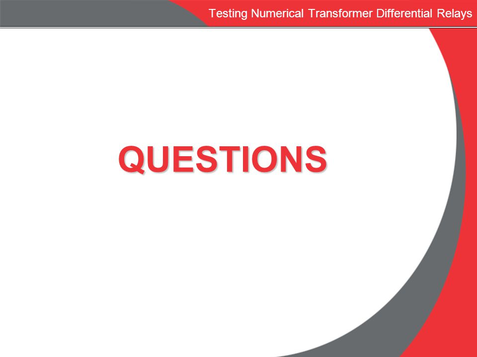 Testing Numerical Transformer Differential Relays