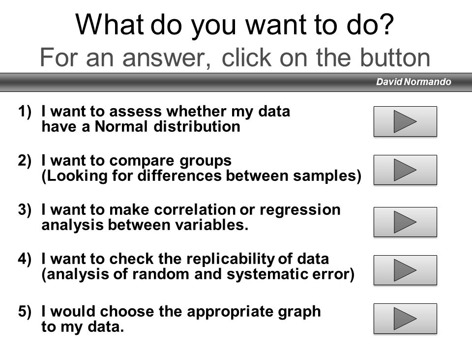 What do you want to do For an answer, click on the button