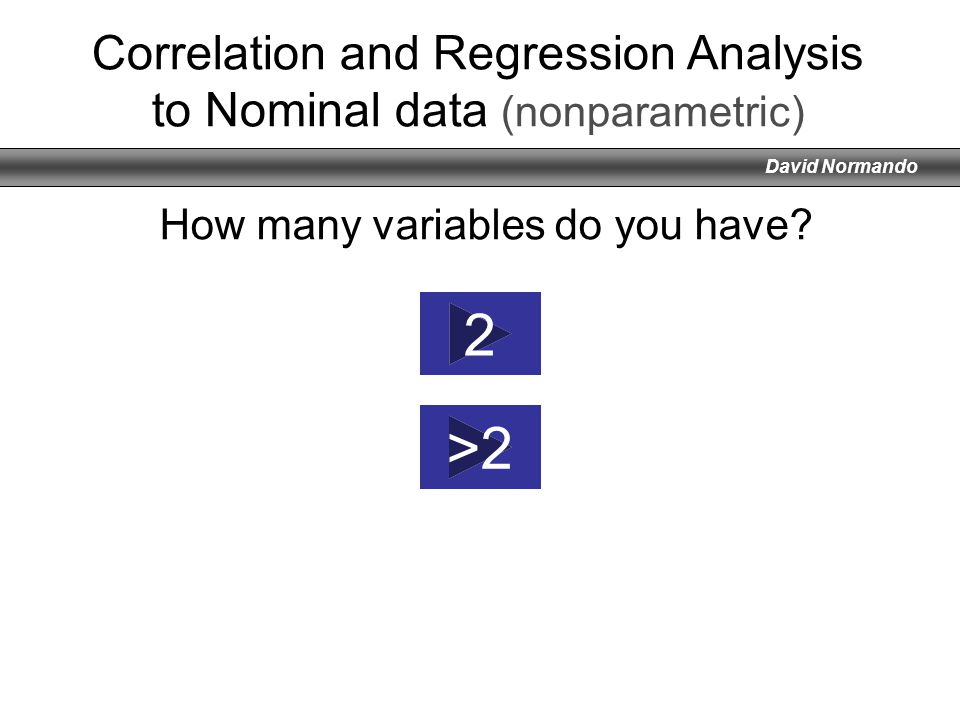 Correlation and Regression Analysis to Nominal data (nonparametric)