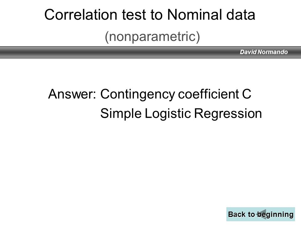 Correlation test to Nominal data (nonparametric)
