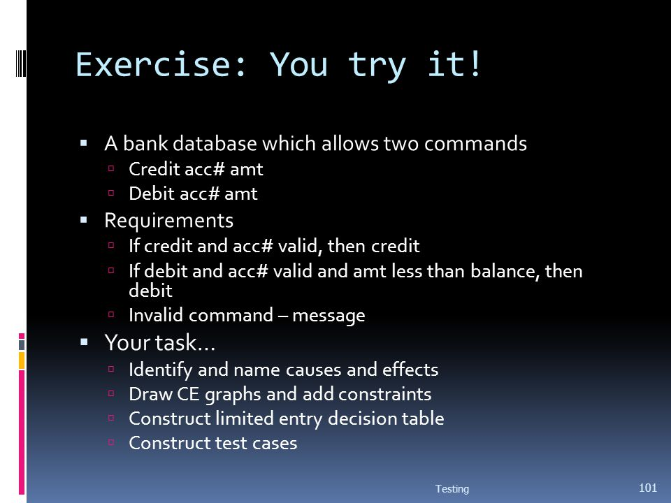Exercise: You try it! Your task…
