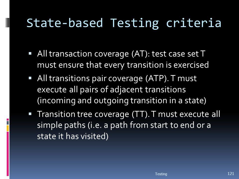 State-based Testing criteria