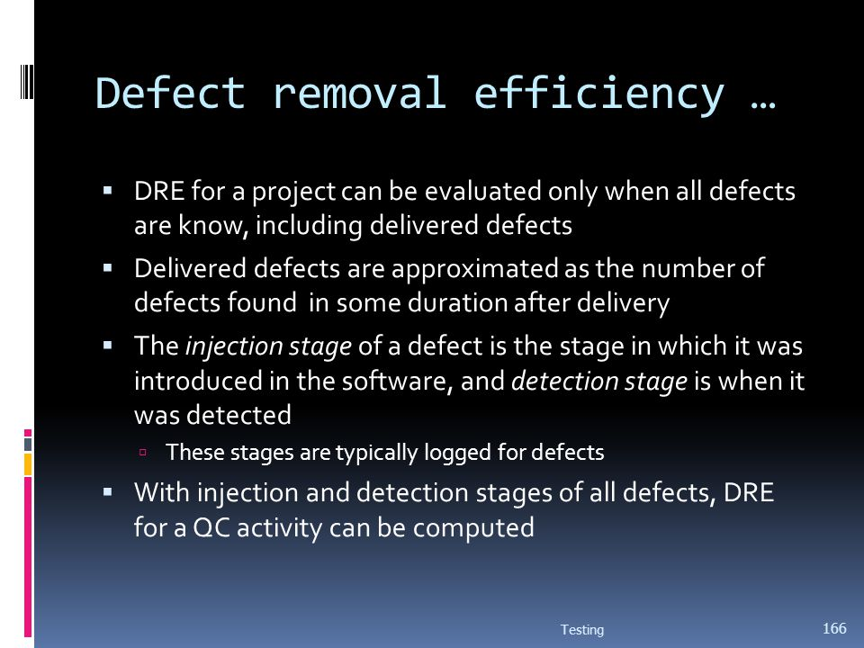 Defect removal efficiency …