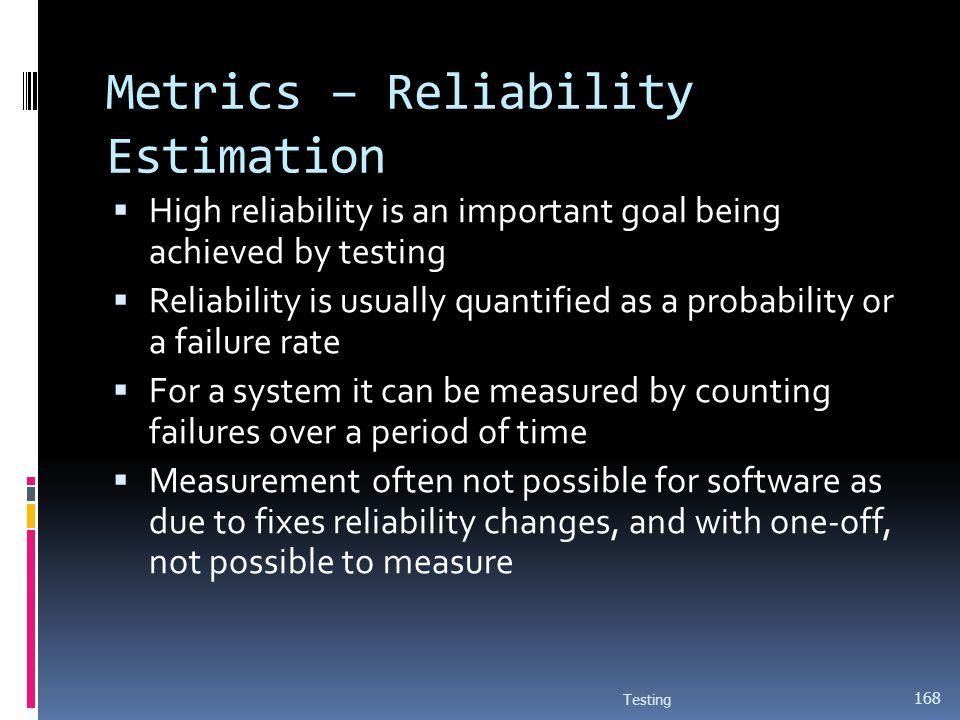 Metrics – Reliability Estimation