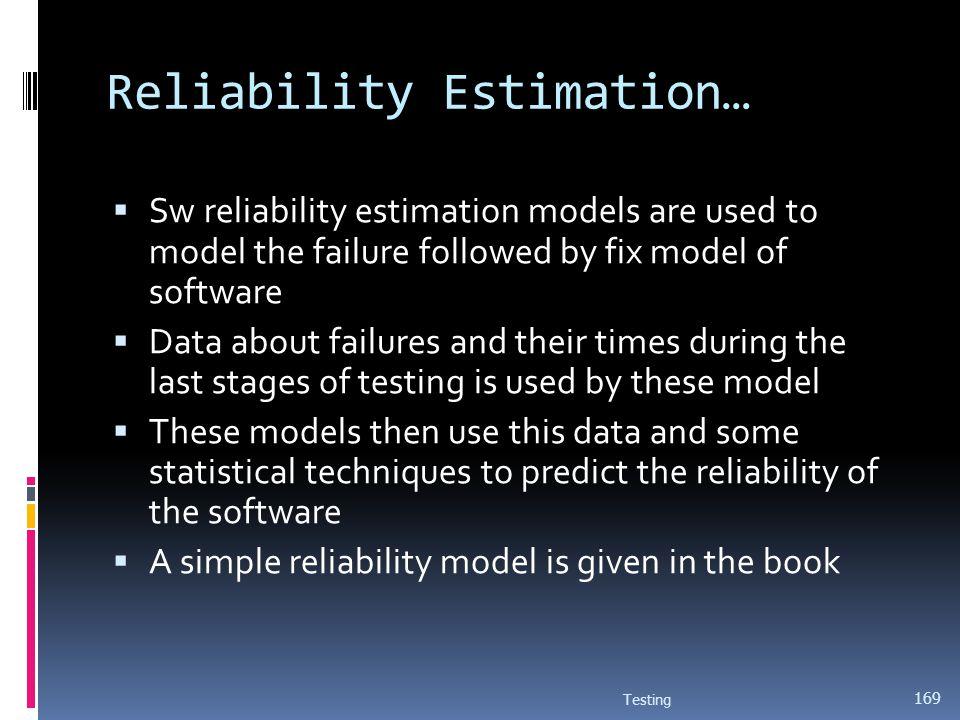 Reliability Estimation…