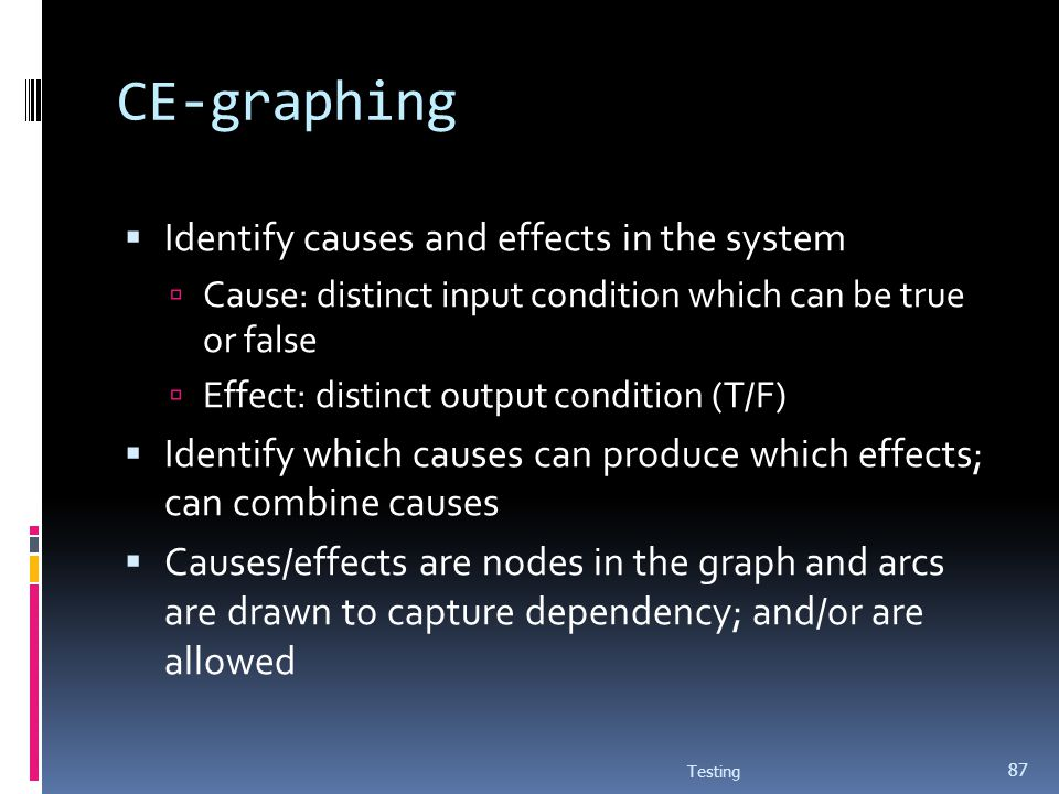 CE-graphing Identify causes and effects in the system