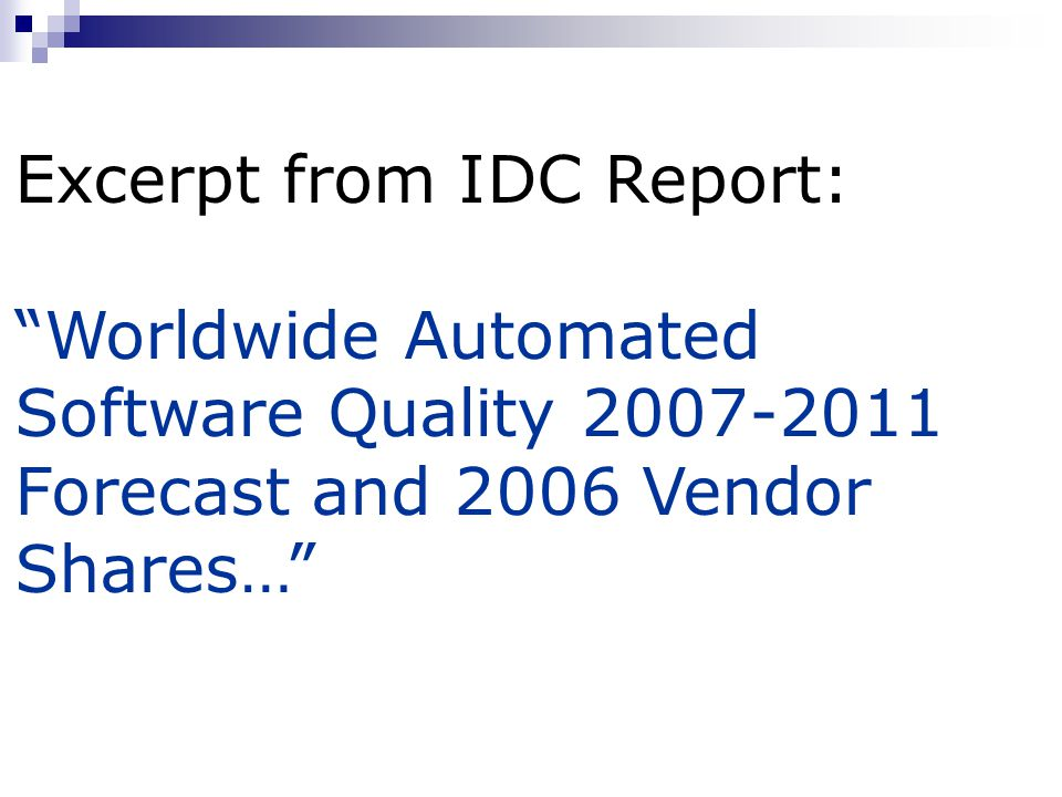 Excerpt from IDC Report: