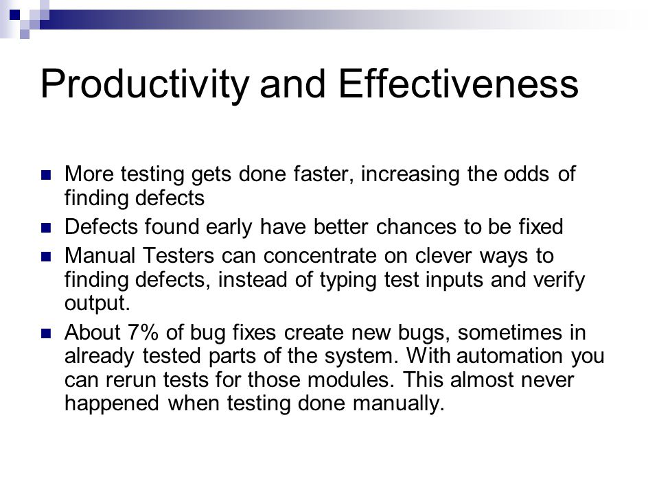 Productivity and Effectiveness