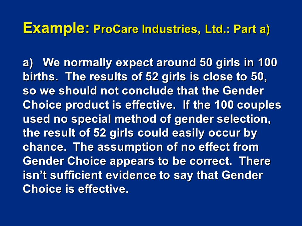 Example: ProCare Industries, Ltd.: Part a)