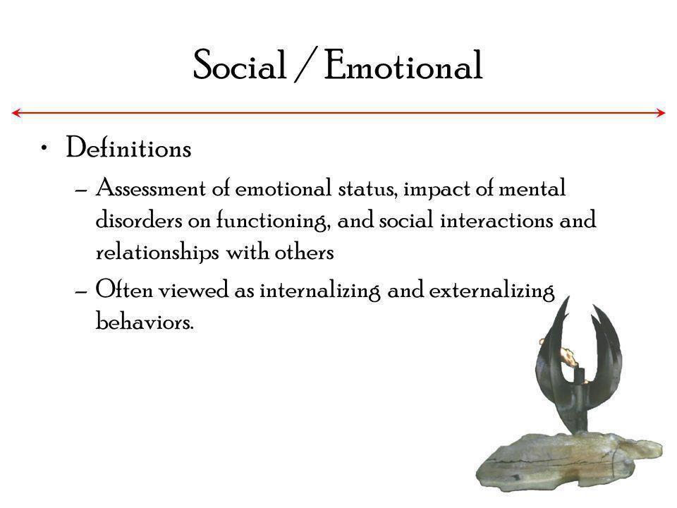 Social / Emotional Definitions