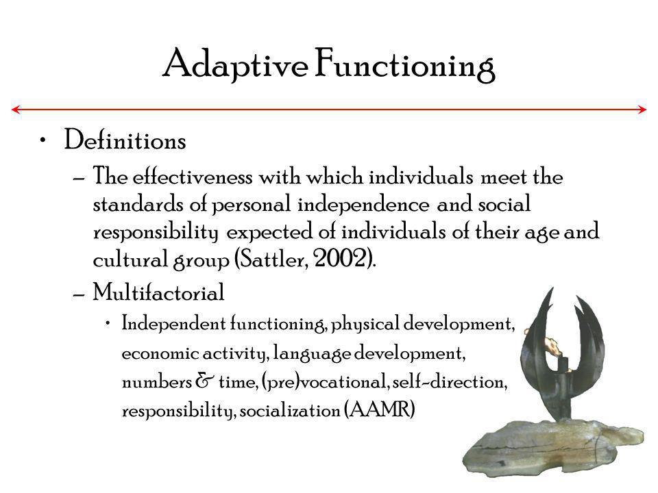 Adaptive Functioning Definitions