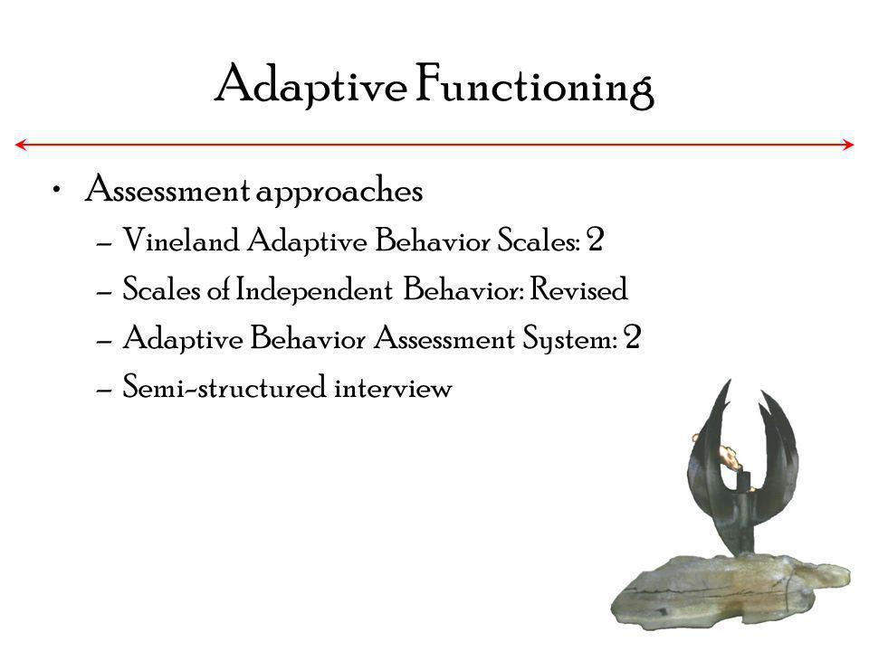 Adaptive Functioning Assessment approaches