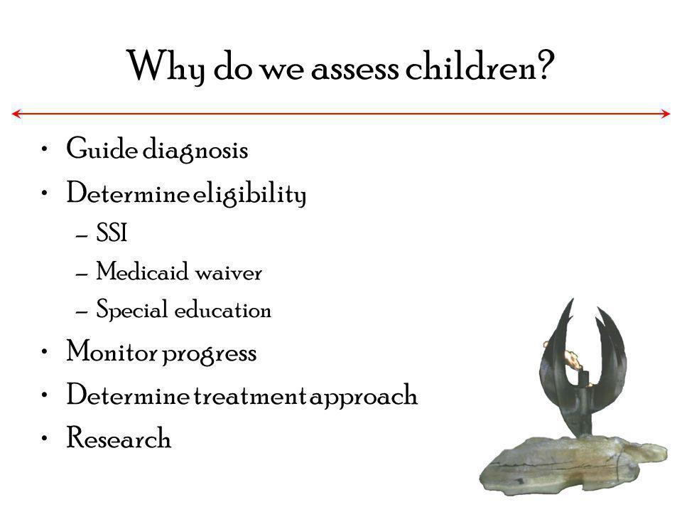 Why do we assess children