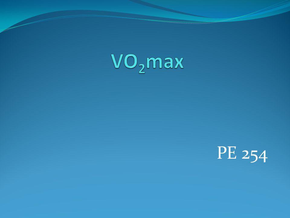 VO2max PE 254