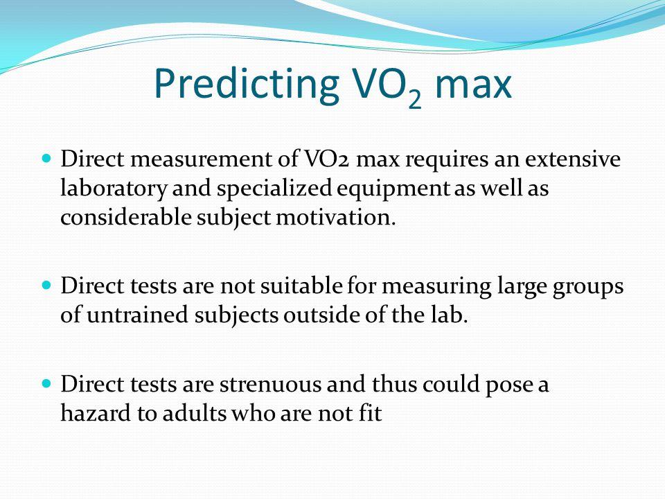 Predicting VO2 max