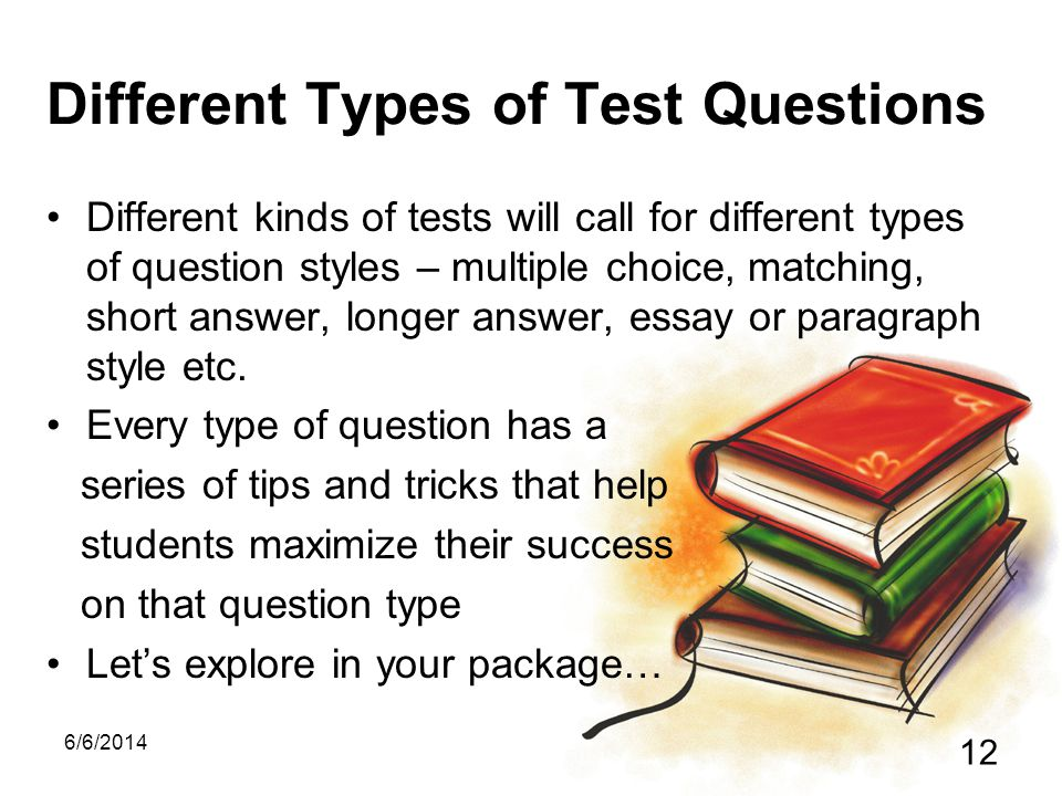 Different Types of Test Questions