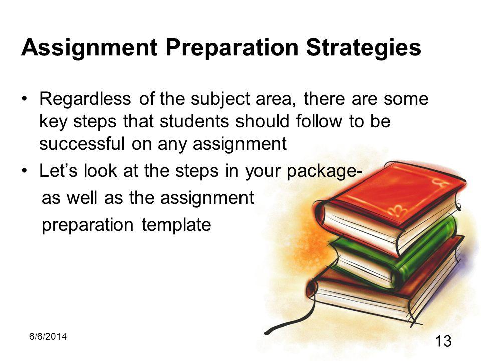 Assignment Preparation Strategies