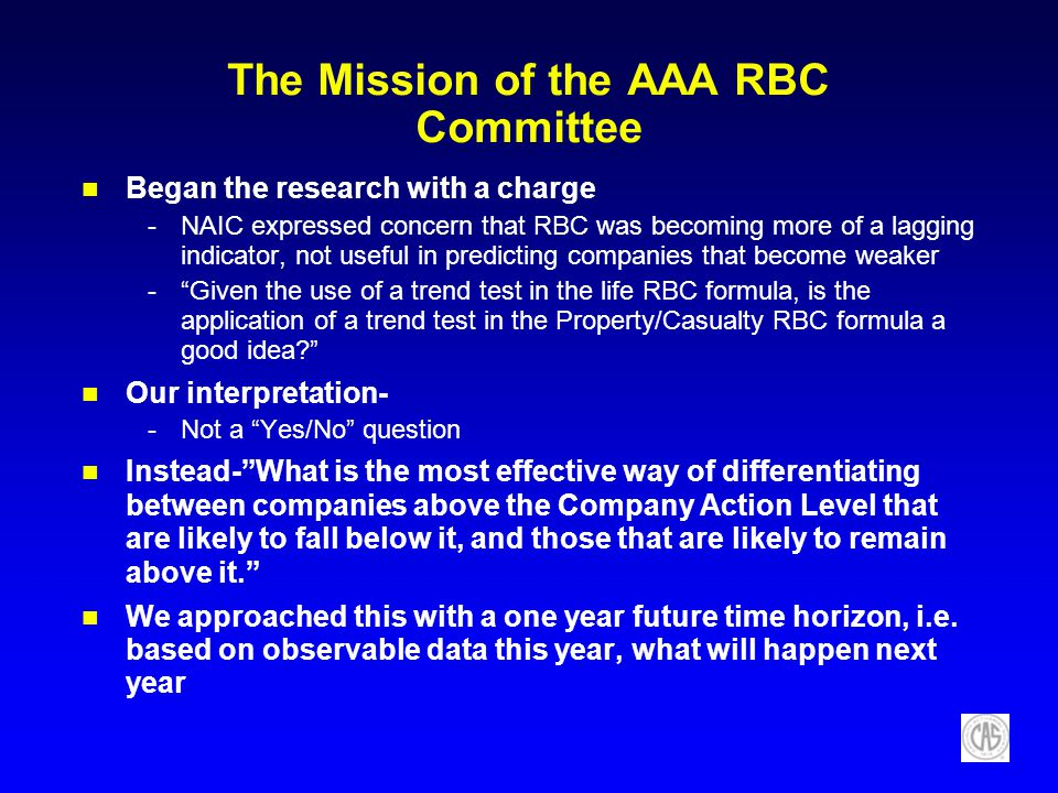 The Mission of the AAA RBC Committee