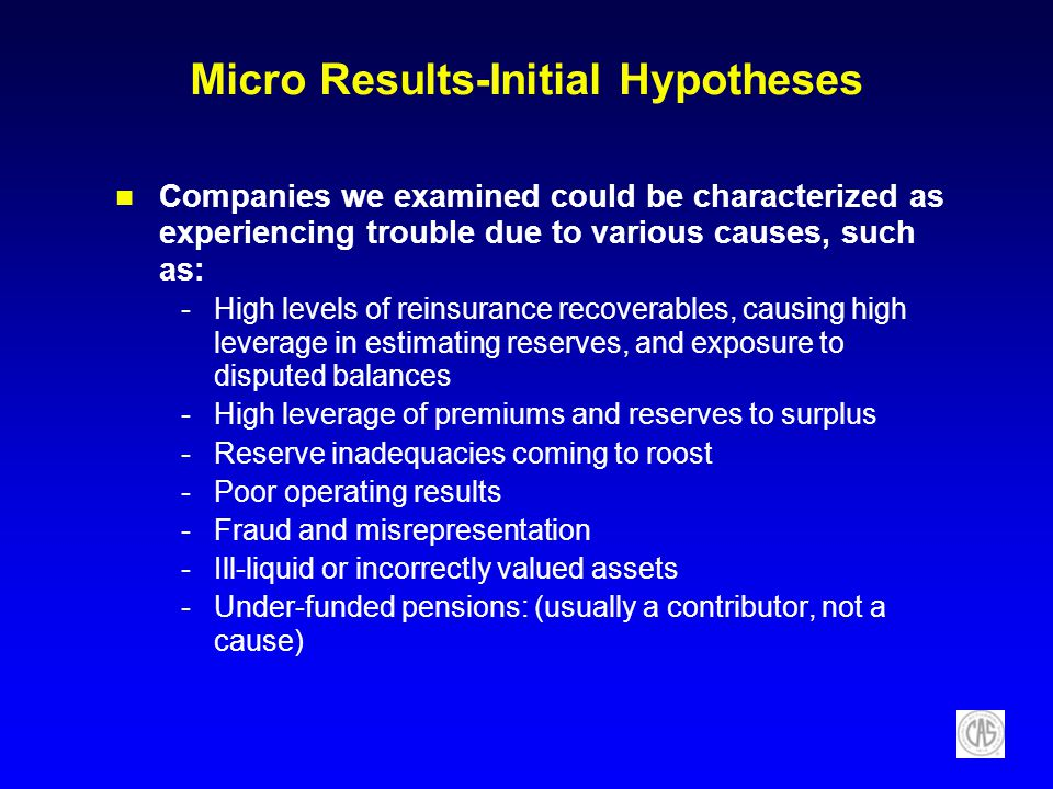 Micro Results-Initial Hypotheses