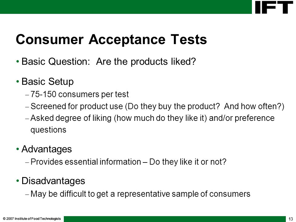 Consumer Acceptance Tests