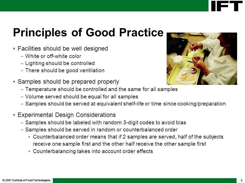Principles of Good Practice