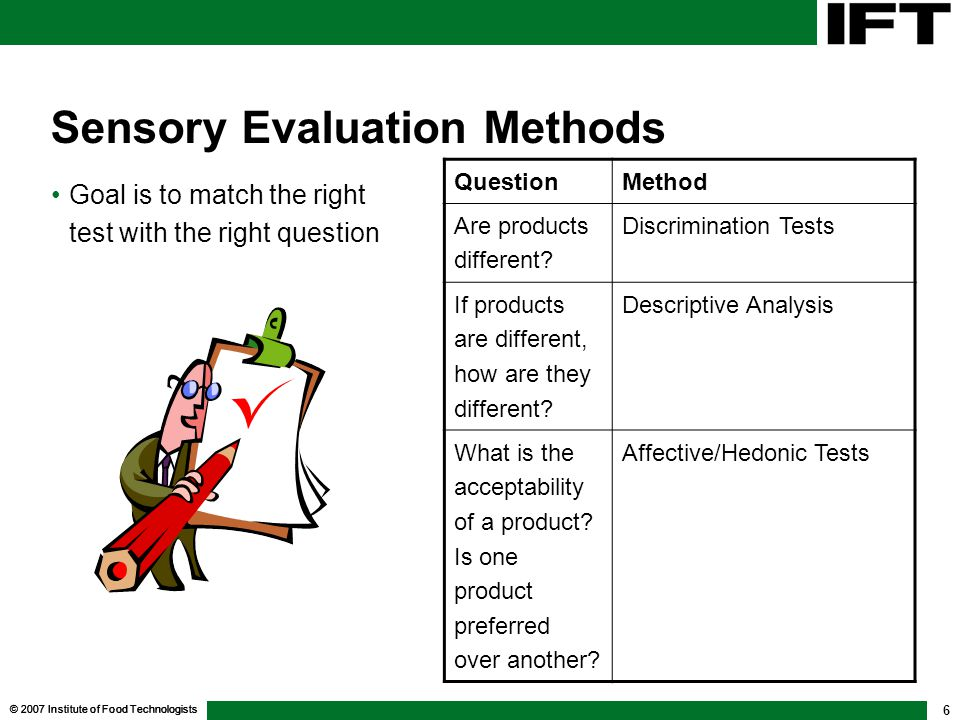 Sensory Evaluation Methods