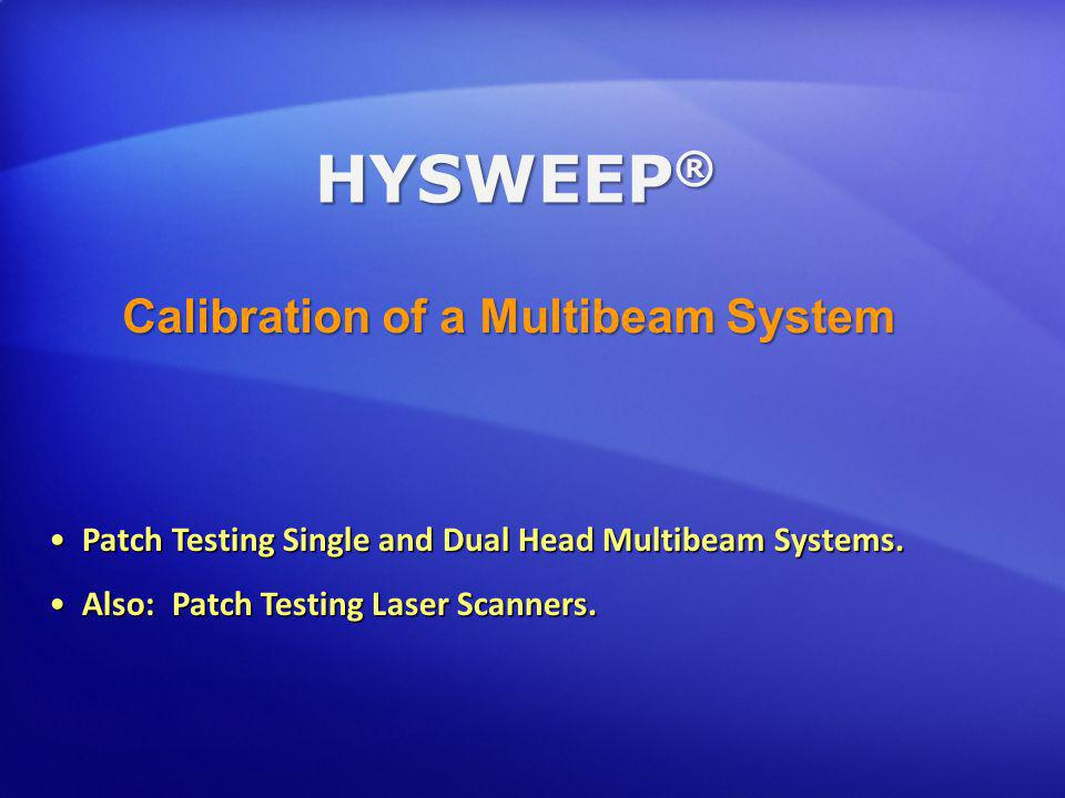 Calibration of a Multibeam System