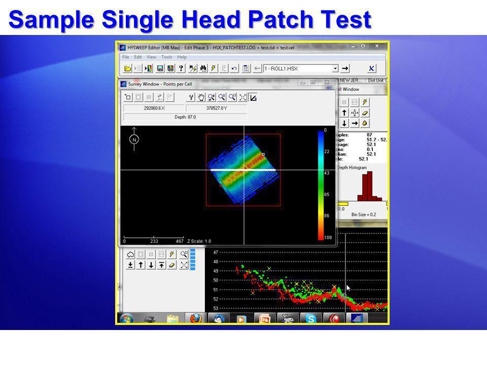 Sample Single Head Patch Test