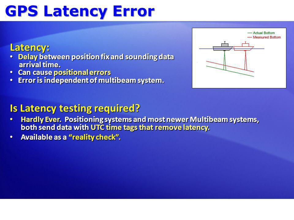 GPS Latency Error Latency: Is Latency testing required