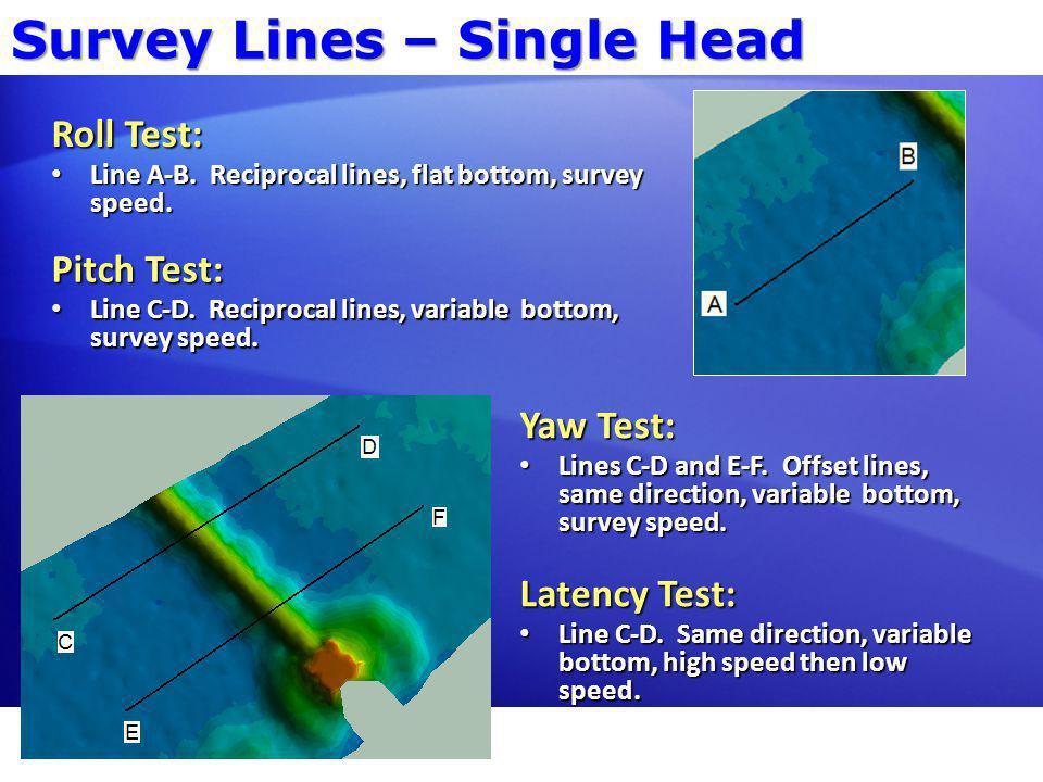 Survey Lines – Single Head