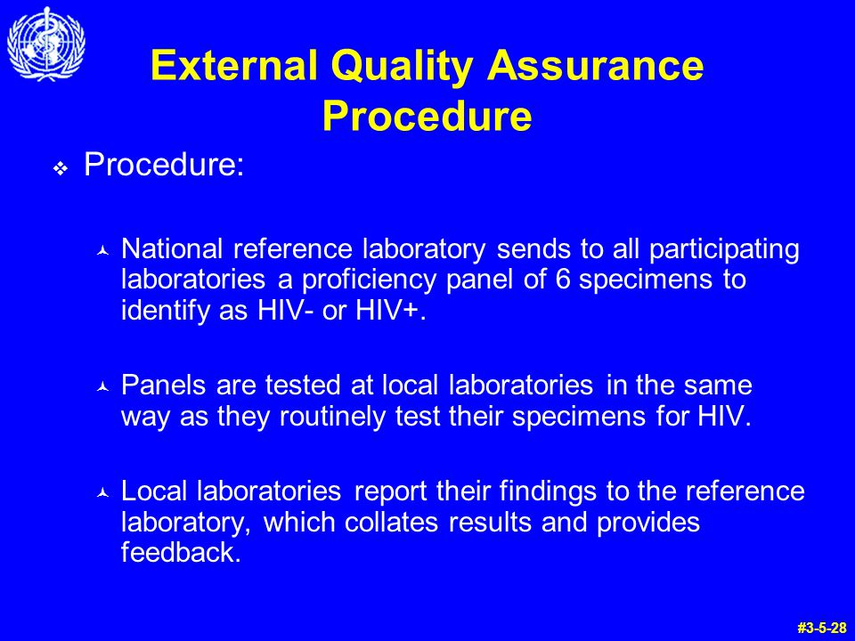 External Quality Assurance Procedure