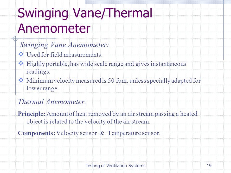 Swinging Vane/Thermal Anemometer