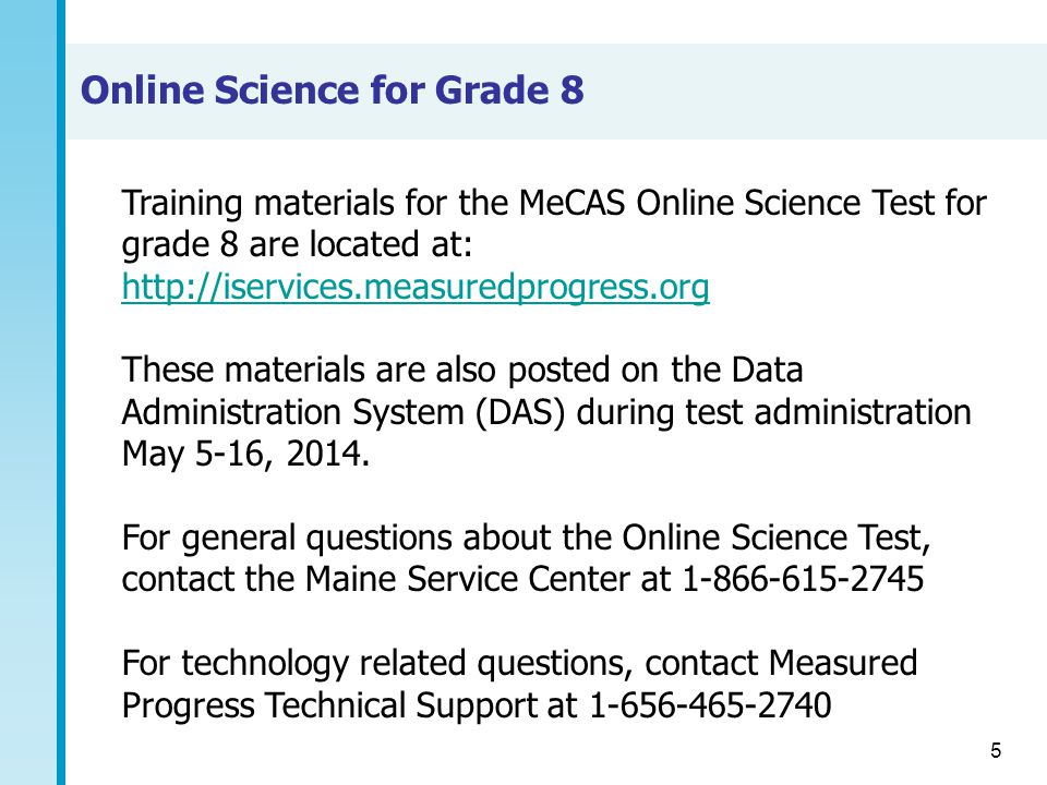Online Science for Grade 8