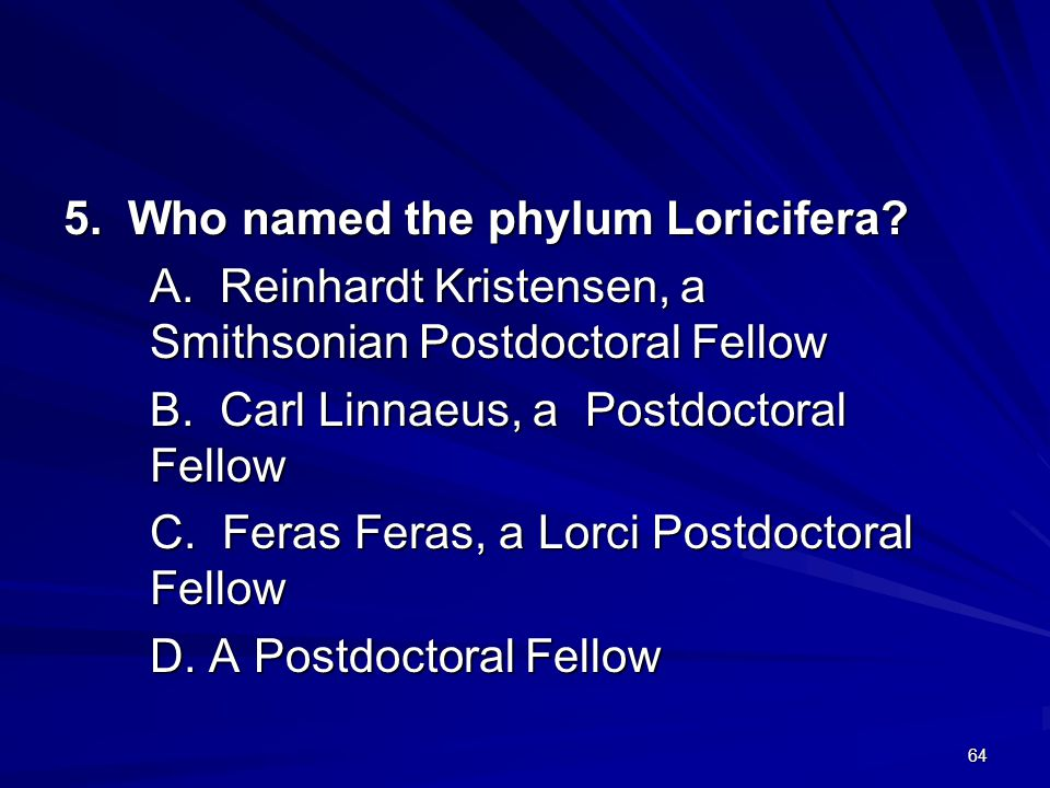 5. Who named the phylum Loricifera