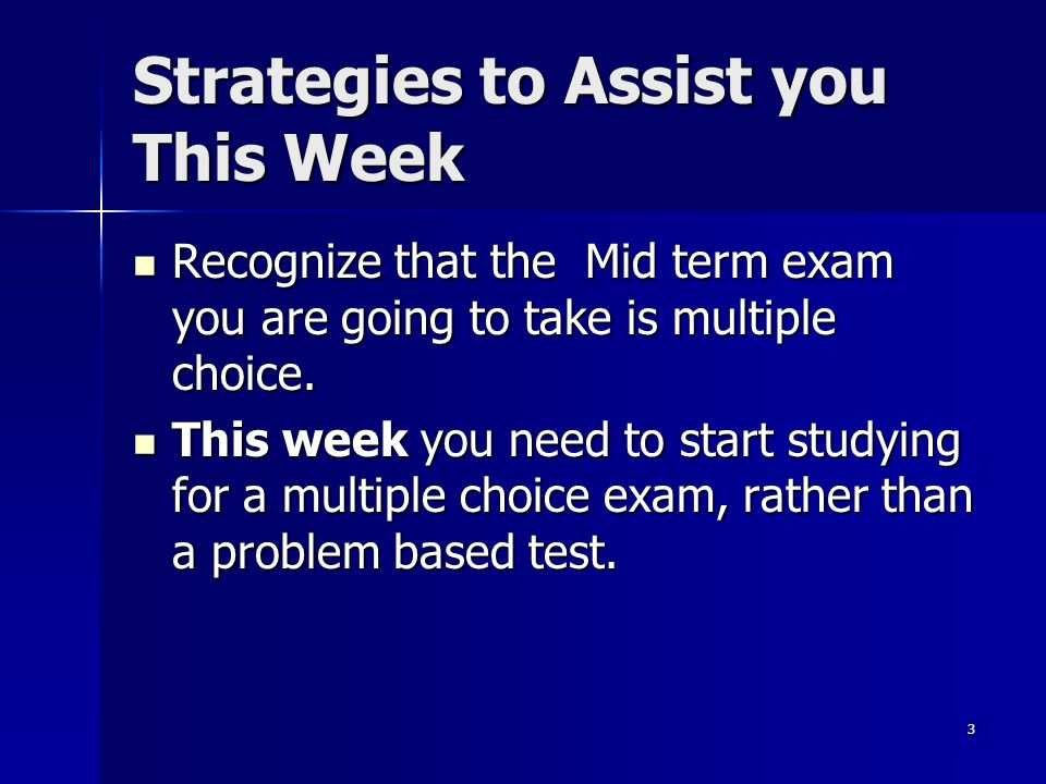 Strategies to Assist you This Week