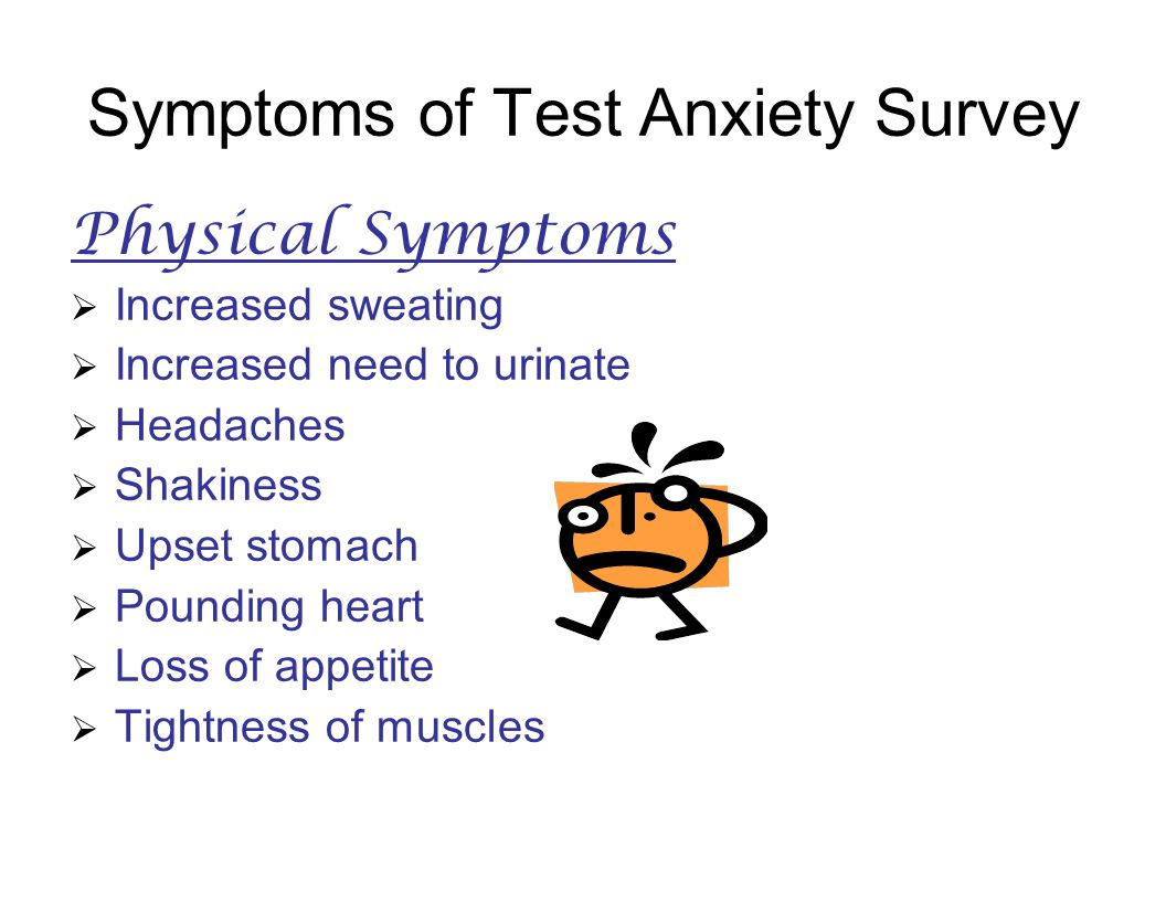 Symptoms of Test Anxiety Survey