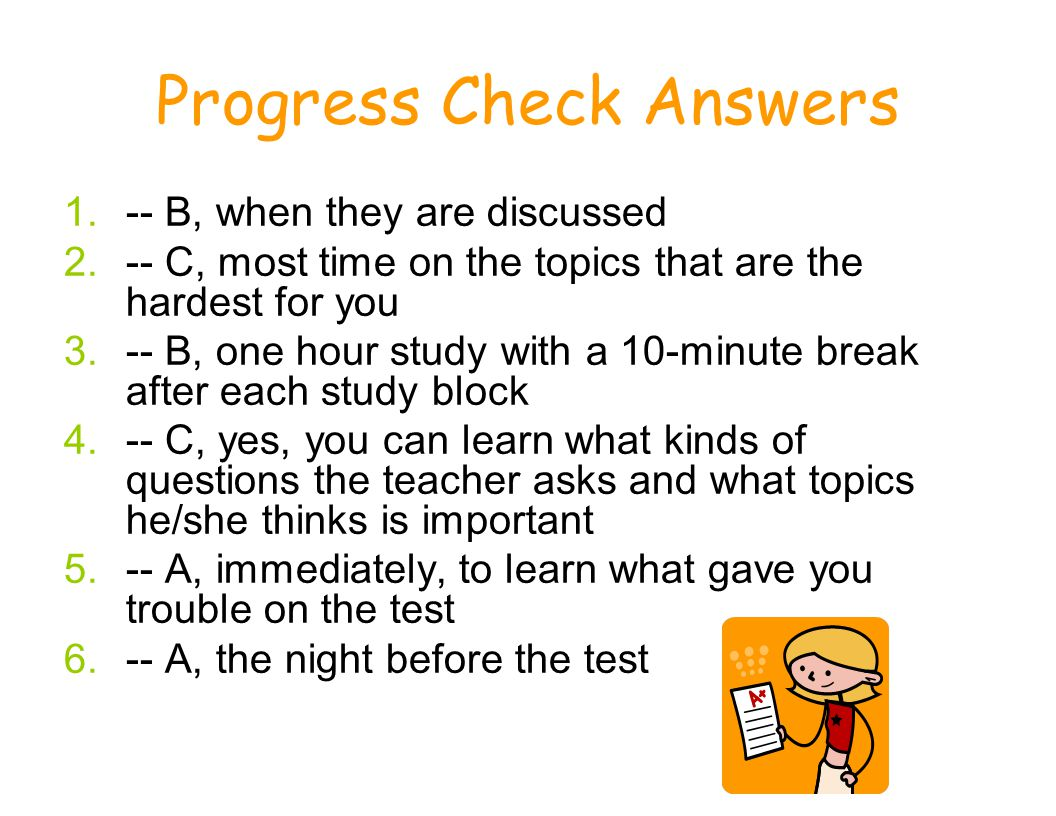 Progress Check Answers