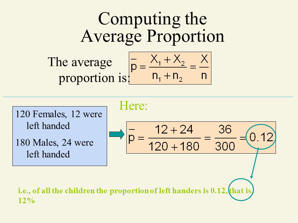 Computing the Average Proportion