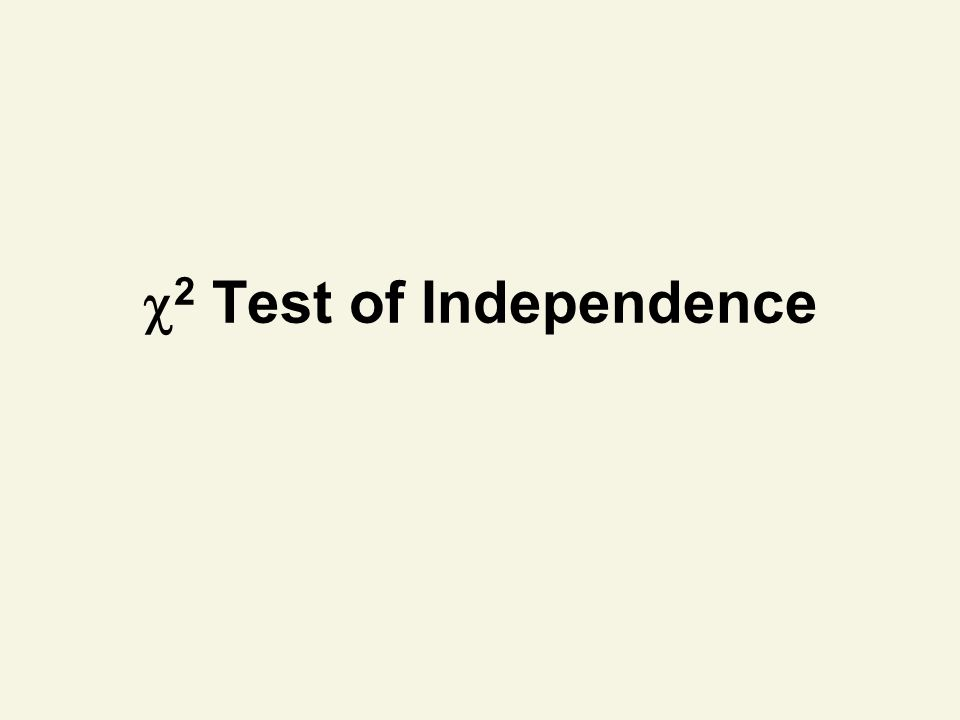 2 Test of Independence