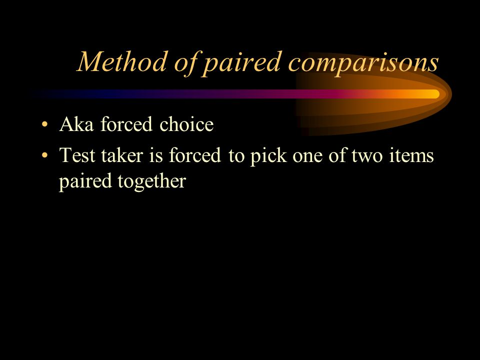 Method of paired comparisons