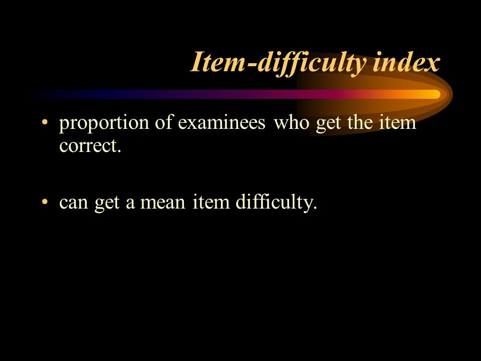 Item-difficulty index