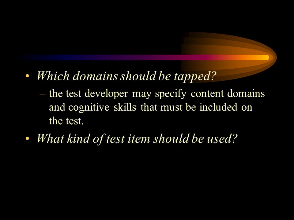 Which domains should be tapped