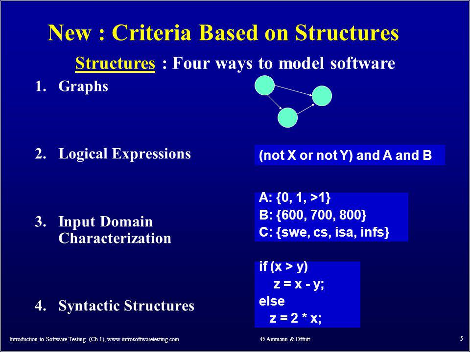 New : Criteria Based on Structures