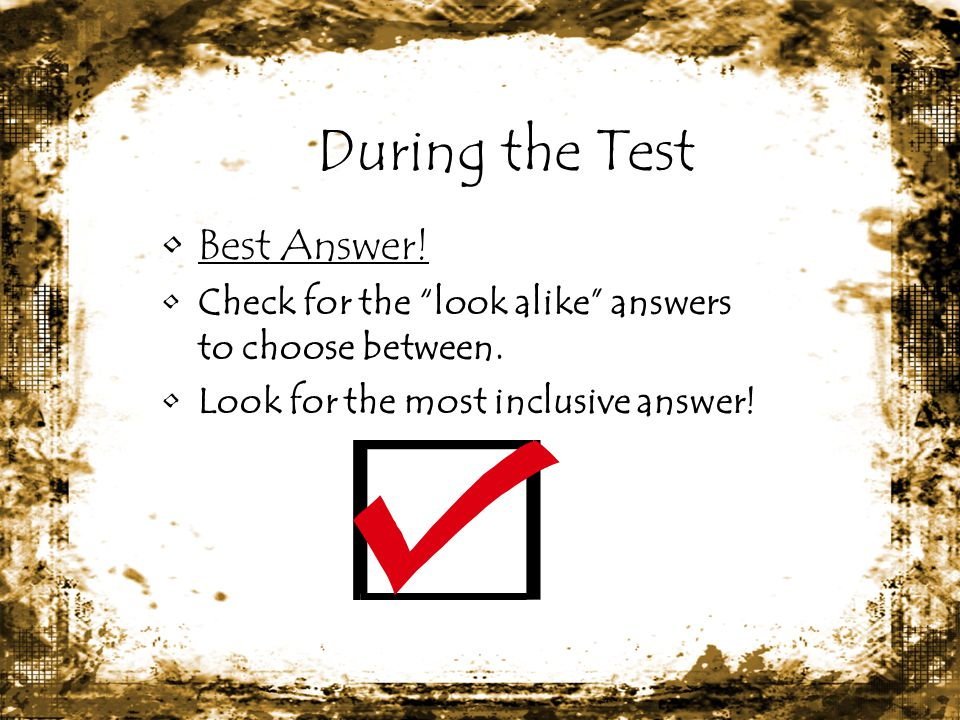 During the Test Best Answer!