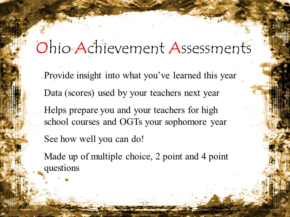Ohio Achievement Assessments