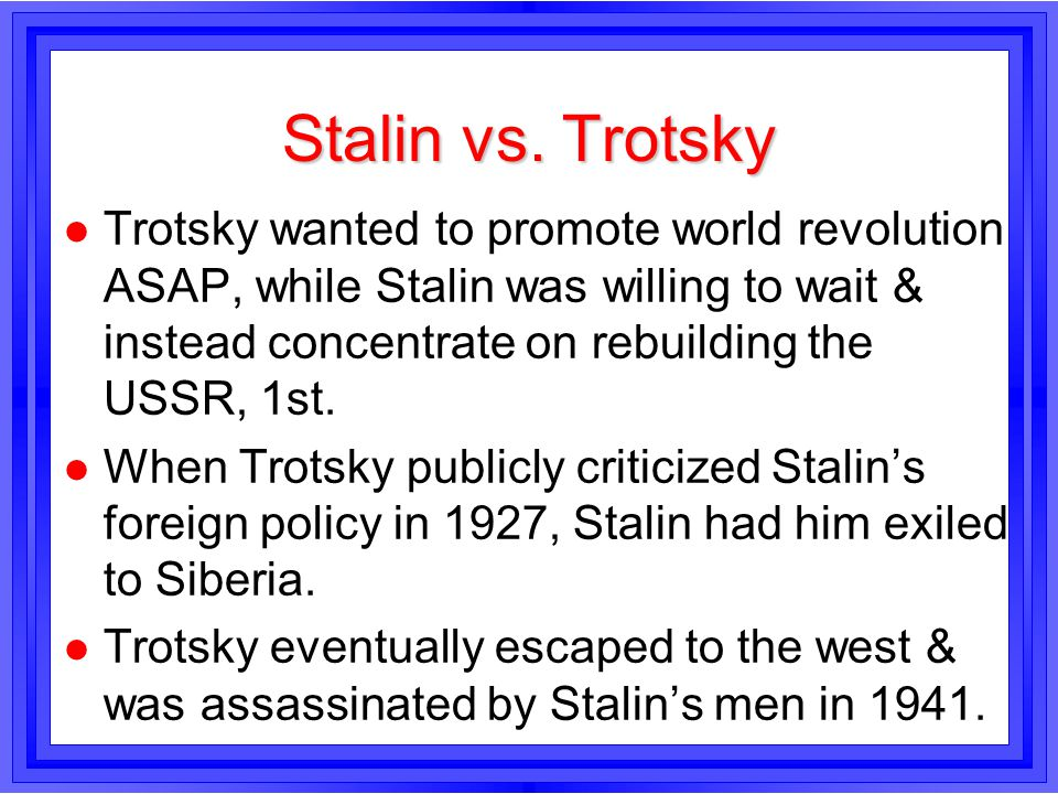 Stalin vs. Trotsky