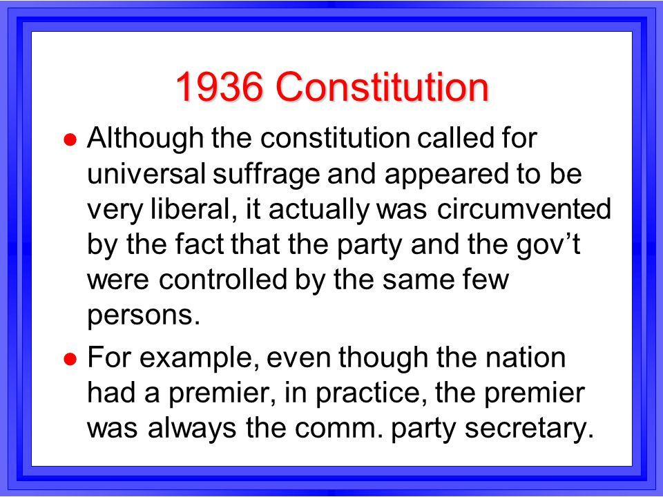 1936 Constitution