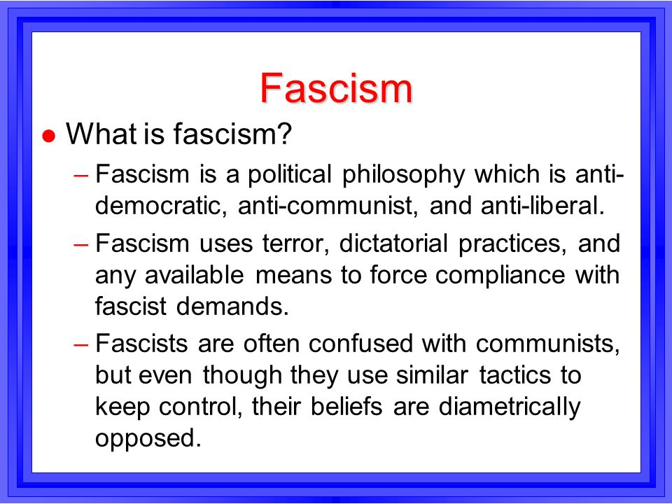 Fascism What is fascism