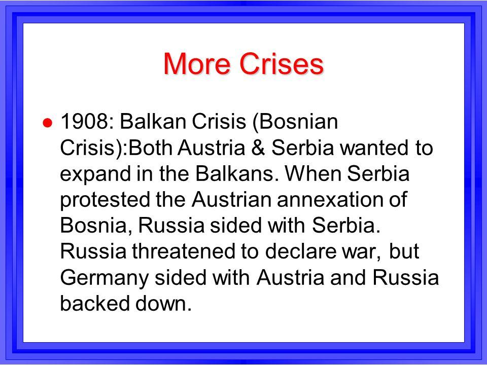 More Crises
