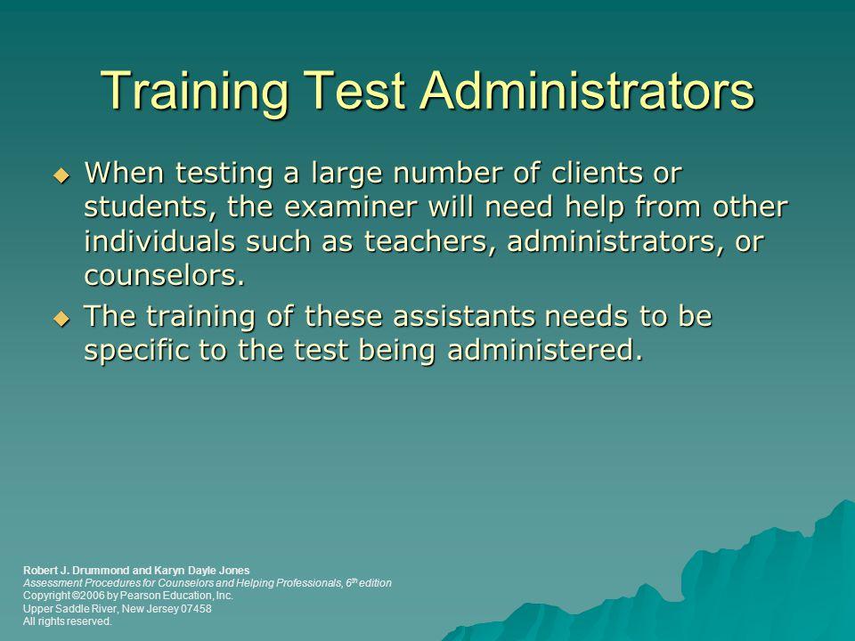 Training Test Administrators